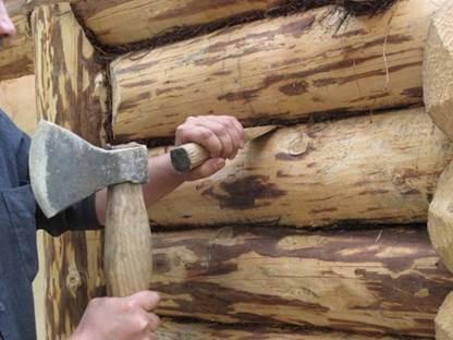Как конопатить дом из бревна джутом