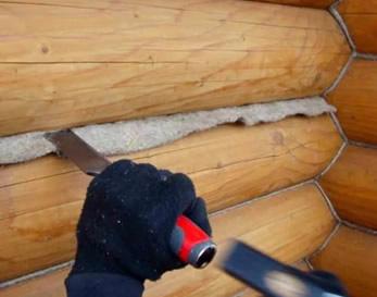 Как конопатить углы сруба