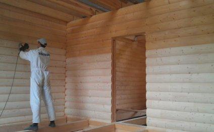 Шлифовка стен из бруса профилированного своими руками: чем и как шлифовать дом (фото и видео)