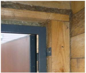 Схема крепления дверного полотна к обсаде